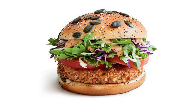 вегетарианский бургер еда фастфуд